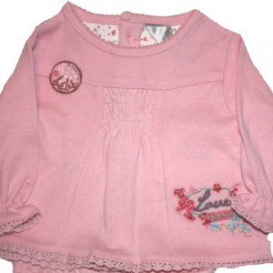 Bebe 'Pointelle' A-Line Top