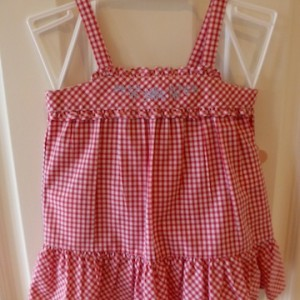 Chaps Red Checked Sun Dress