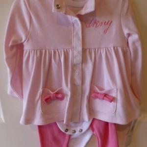 DKNY Girl's Snapsuit Set
