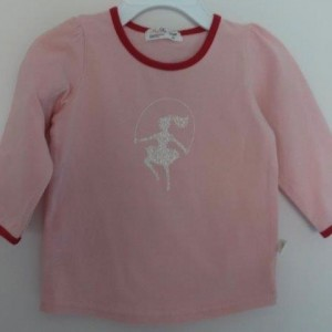 MiniFin Long Sleeve Pink Tee
