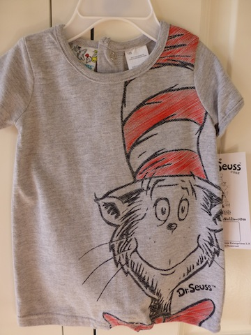 810ec4f5e6d Cat In The Hat Grey T-shirt by Dr. Seuss - Baby Designer Clothes