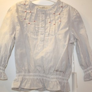 Fresh Baked Silver Striped L/S Blouse