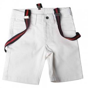 SoSooki White Shorts With Braces