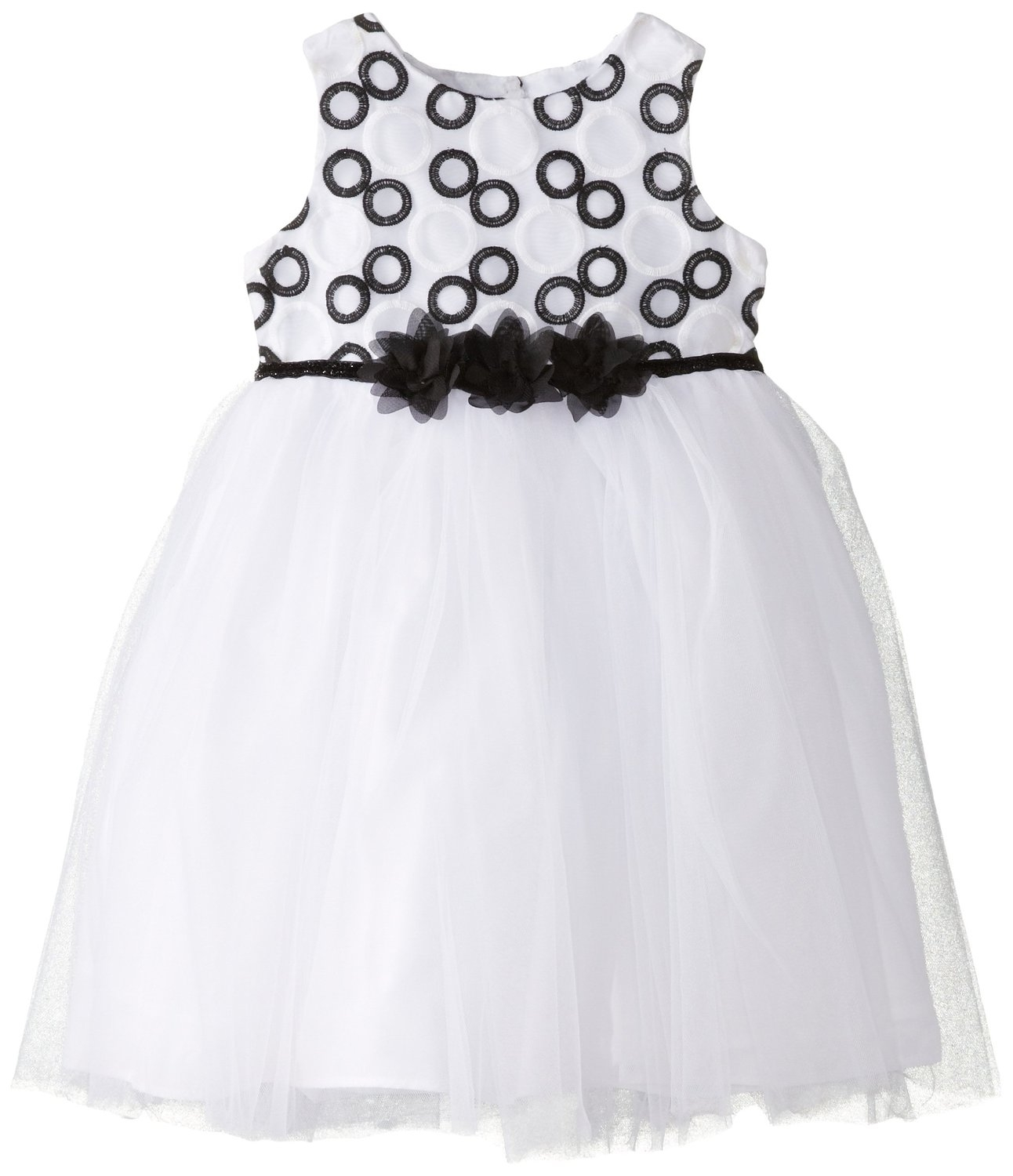 Marmellata Black and White Dress Baby Designer Clothes