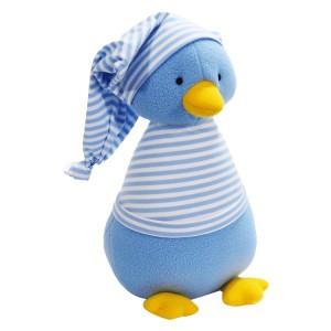 Kate Finn: Fleece Penguin Pale Blue Stripe T-Shirt Soft Toy