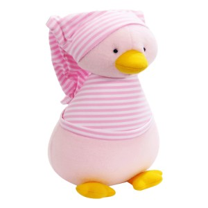 Kate Finn: Fleece Penguin Pale Pink Stripe T-Shirt Soft Toy