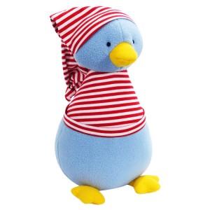 Kate Finn: Fleece Penguin Red Stripe T-Shirt Soft Toy