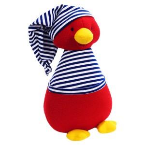 Kate Finn: Fleece Penguin Royal Stripe T-Shirt Soft Toy