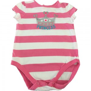 Jumping Bean Snapsuit Pink and White