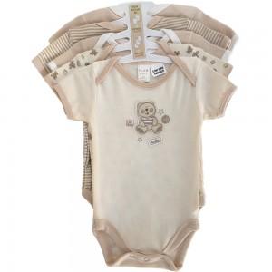 Plum Baby 5 pce Body Suits Caramel